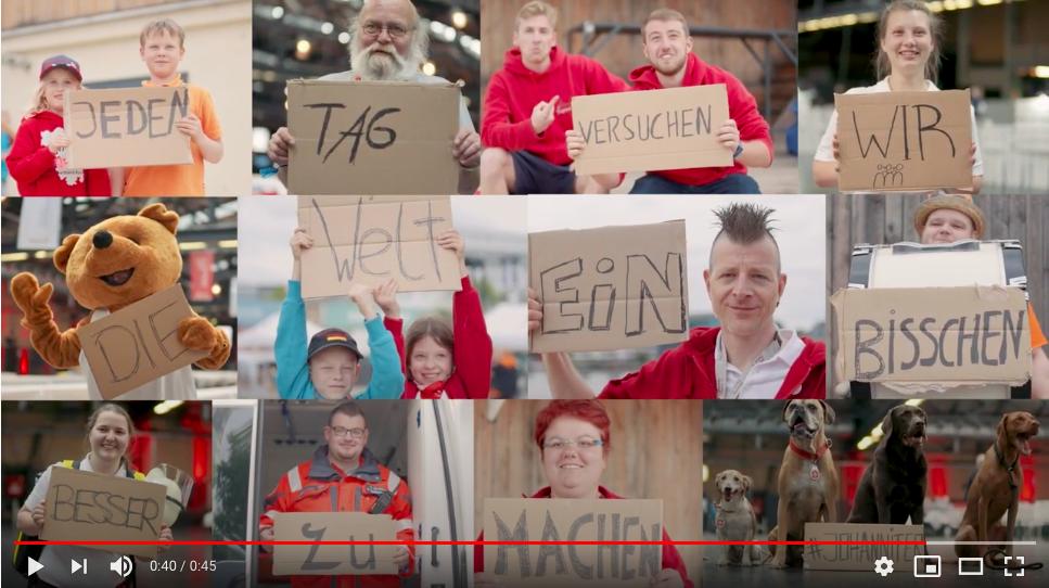 """Video mit Johannitern zum Thema """"Gemeinsam sind wir stark""""."""
