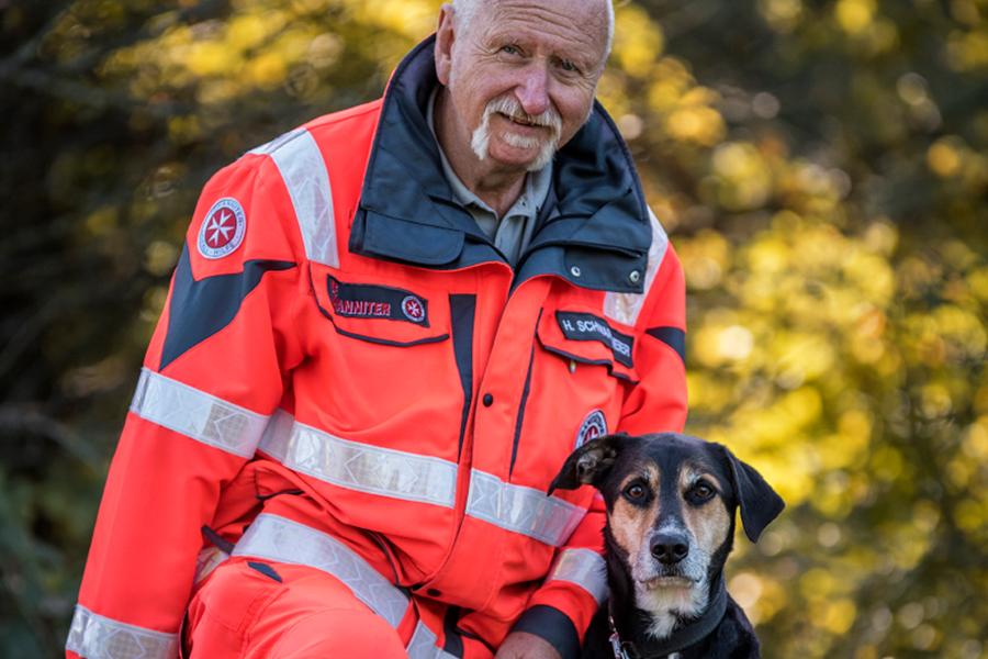 Hermann & Anton von der Johanniter-Rettungshundestaffel Baden-Karlsruhe