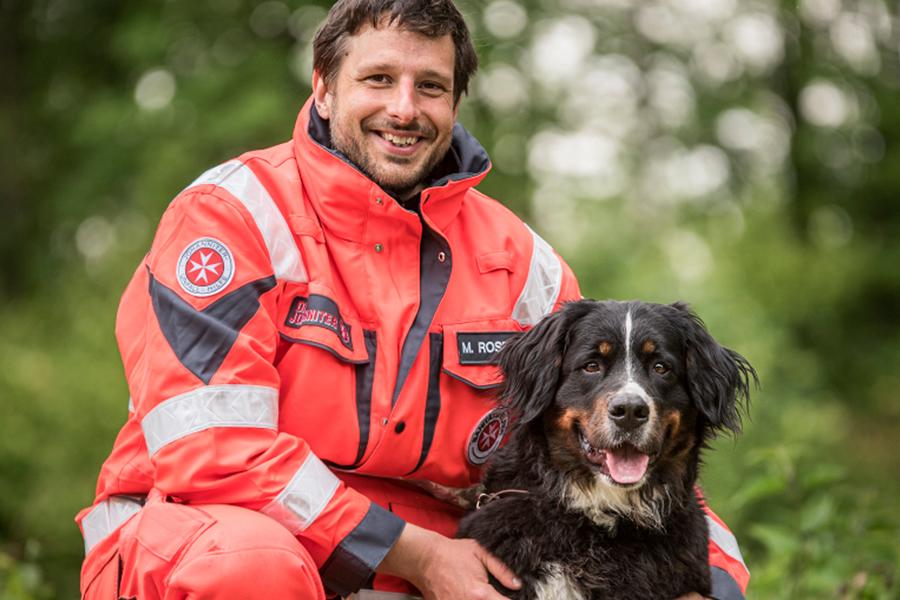 Markus & Airi von der Johanniter-Rettungshundestaffel Baden-Karlsruhe