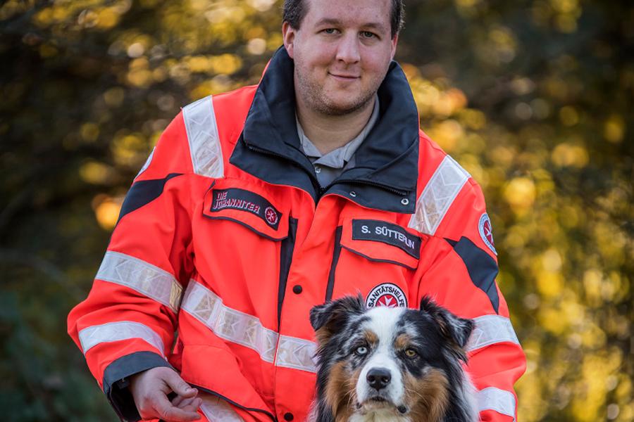 Sascha & Herr Bounty von der Johanniter-Rettungshundestaffel Baden-Karlsruhe