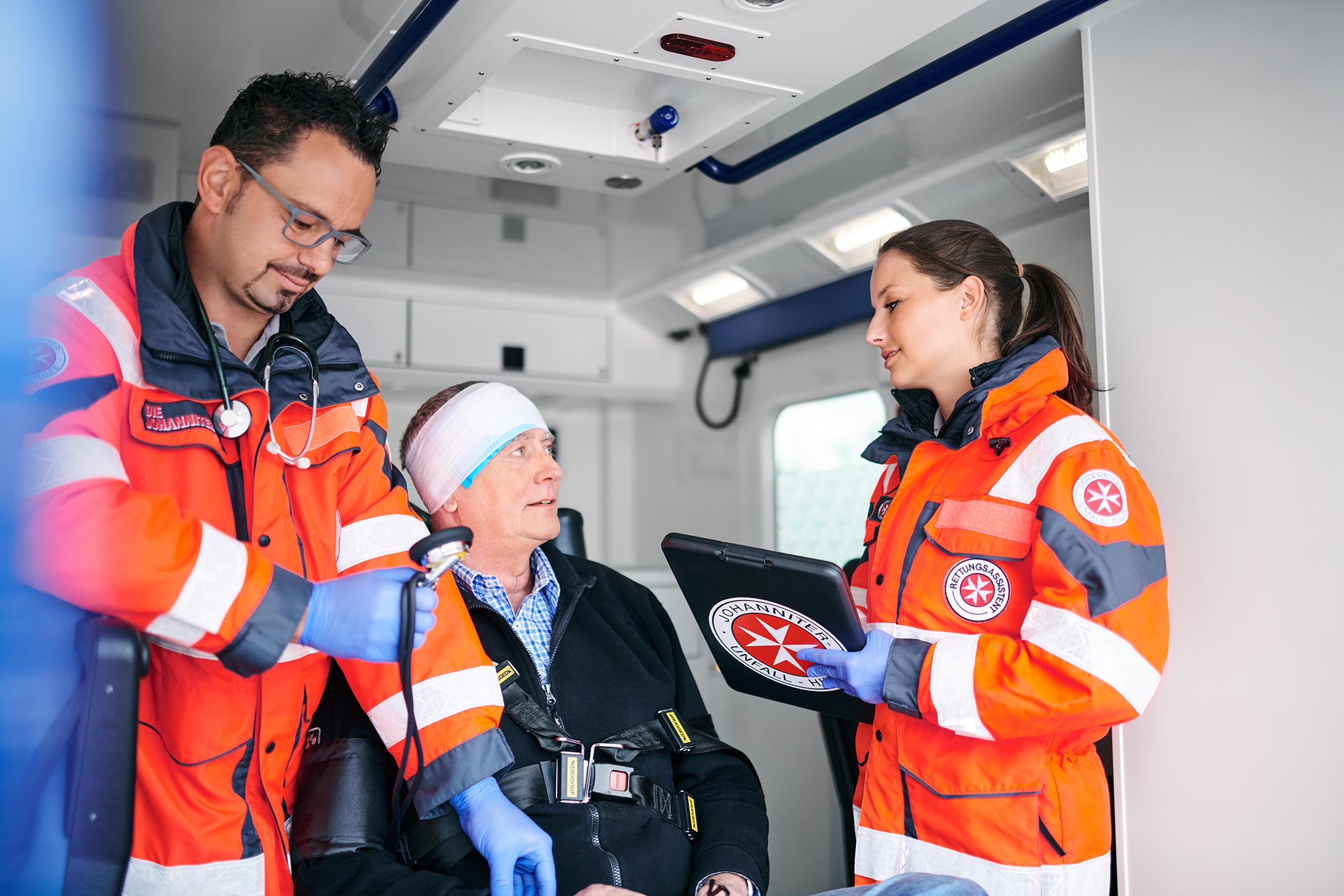 Johanniter-Rettungsdienst im Einsatz