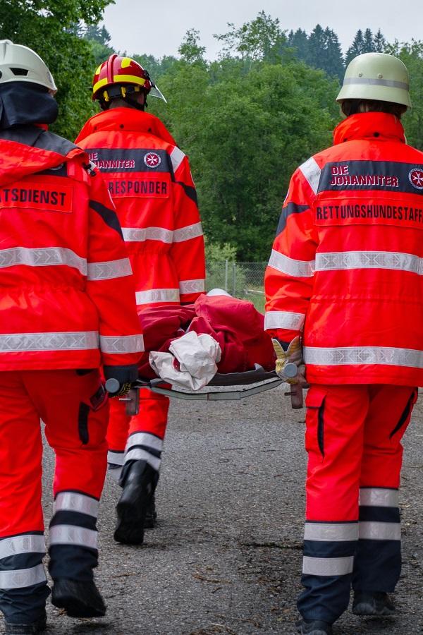 Übung im Katastrophenschutz.