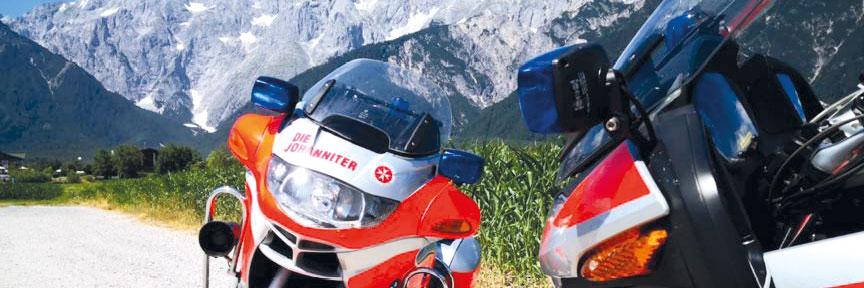 Johanniter-Motorradstaffel in Oberbayern
