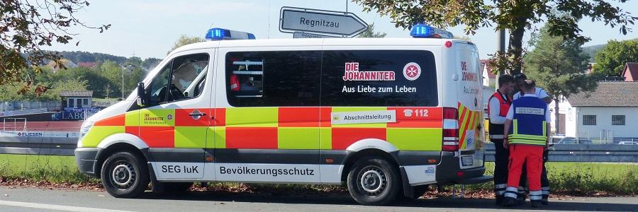 Schnelleinsatzgruppe der Johanniter Oberfranken.