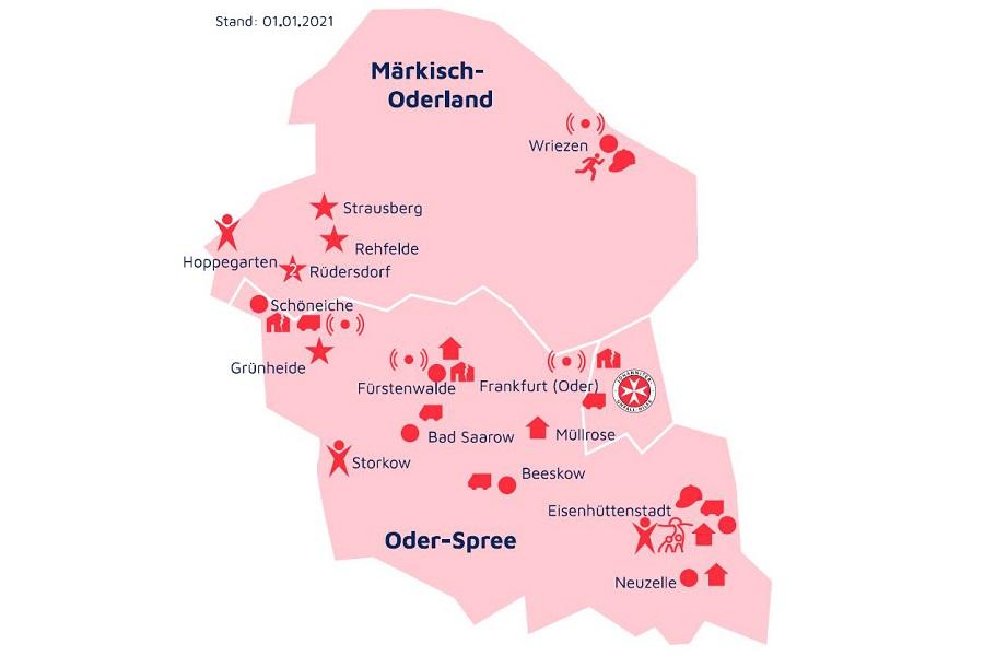 Unsere Standorte in Oderland-Spree