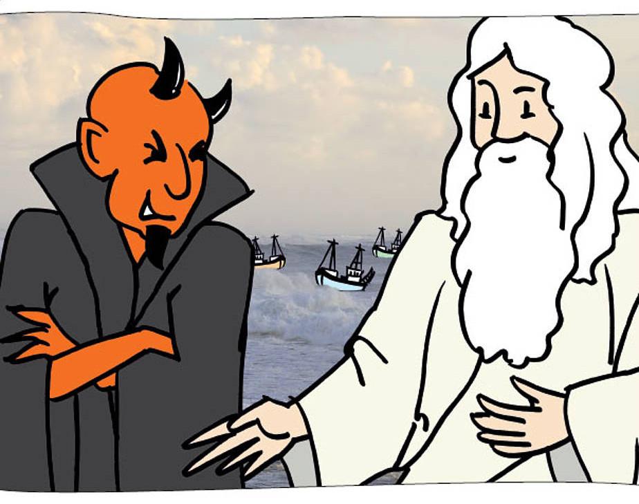 Der Herrgott, der Teufel und die drei Fischer - Ein Gleichnis zum Kooperativen Lernen