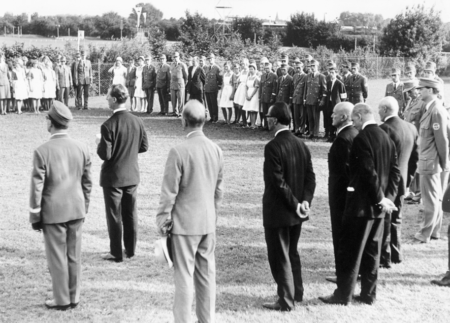 Einsatz auf dem Deutschen Evangelischen Kirchentag im Jahr 1956.