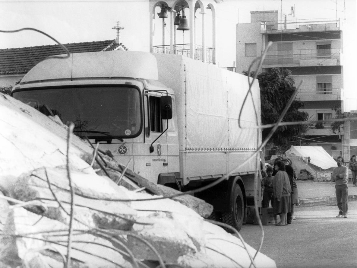 Erdbebeneinsatz im Jahr 1975 in der Türkei.