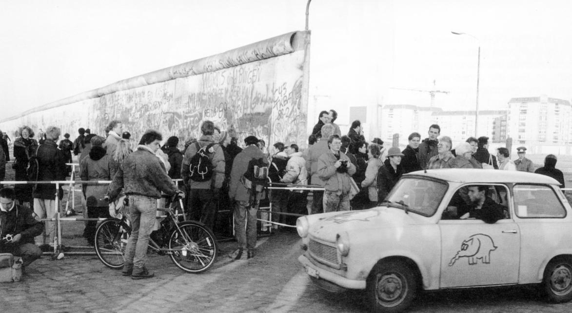 Der Fall der Berliner Mauer im Jahr 1989.