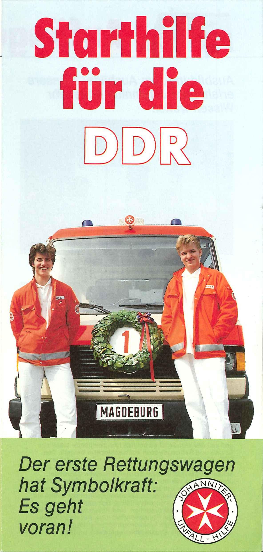 Starthilfe der Johanniter für die DDR im Jahr 1990.
