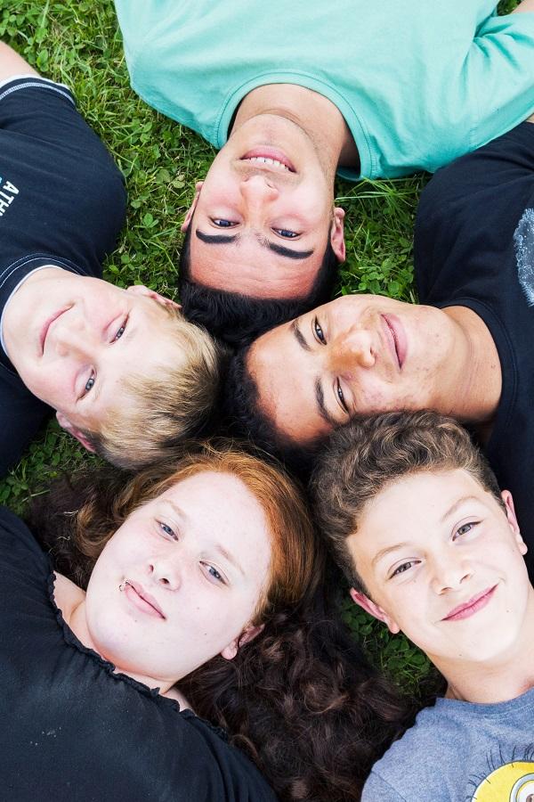 Jugendliche der Jugendwohngruppe Liesenich