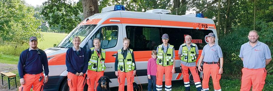 Das Team der Rettungshundestaffel im Regionalverband Bremen-Verden.