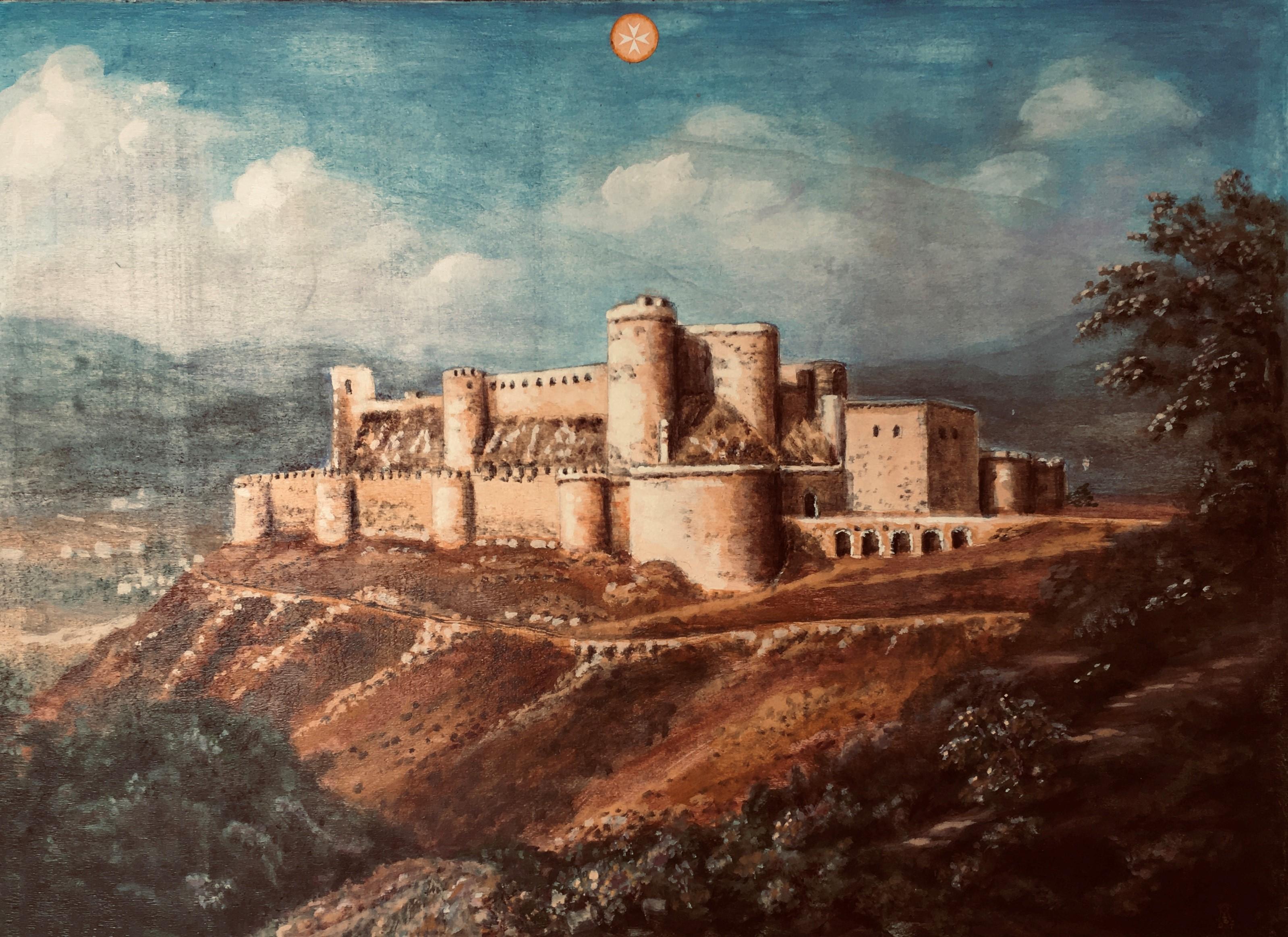 Das Krak de Chevalliers in Syrien ist ein Gemälde von Eckhart Freiherr Marschall von Altengottern.