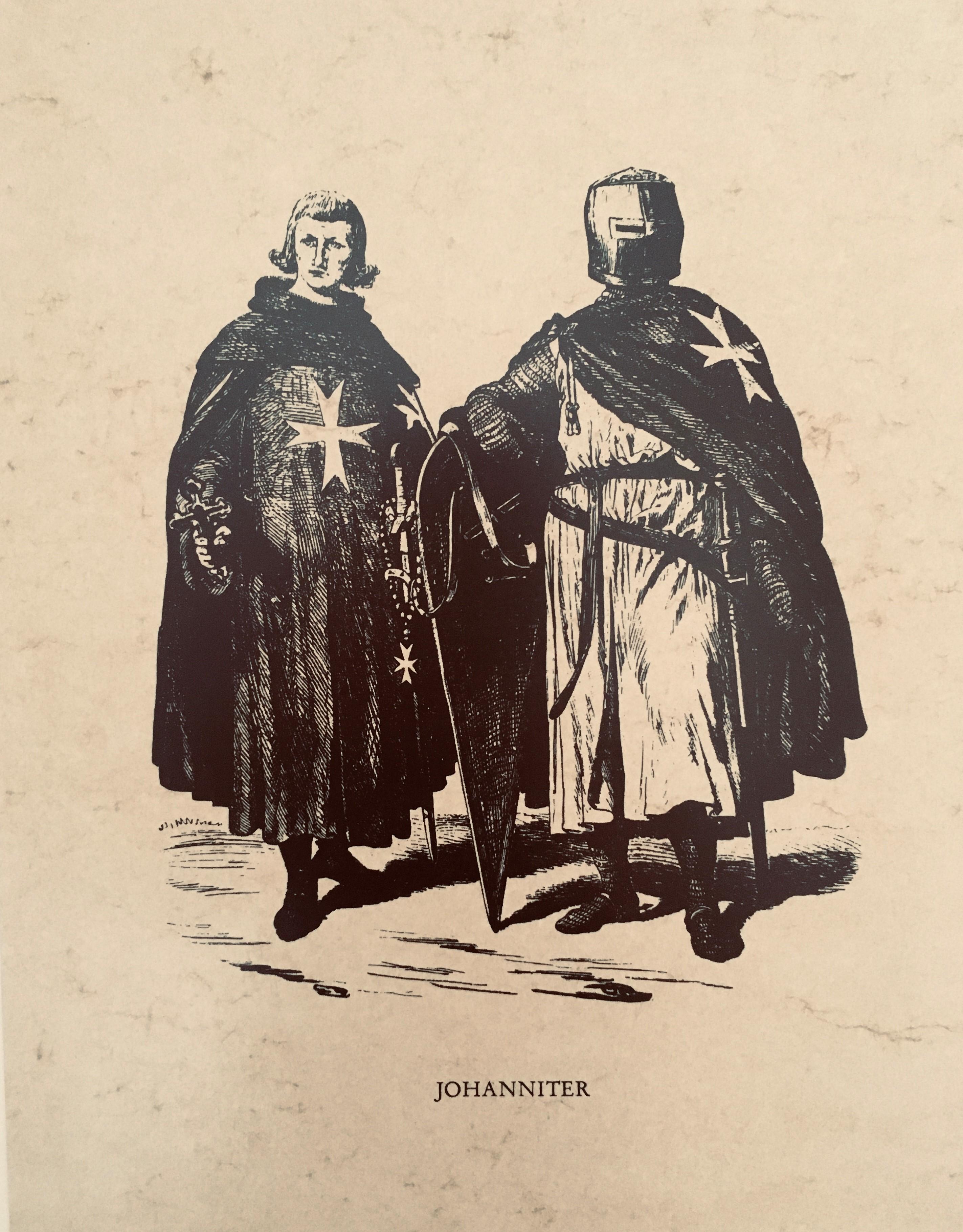 Gemälde mit zwei Johanniter Rittern.