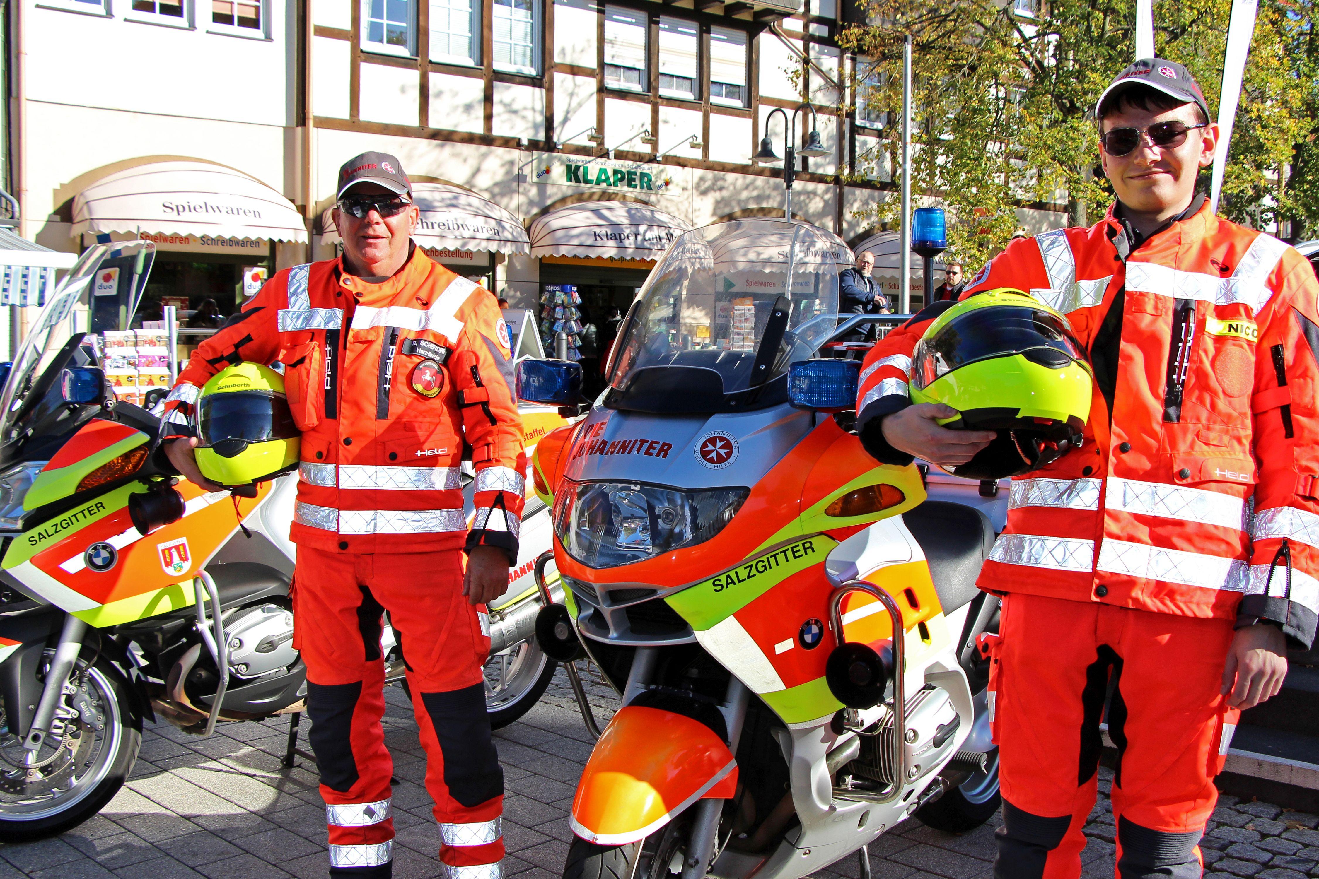 Die Johanniter-Stauhilfemotorradstaffel aus Salzgitter beendet die Saison.