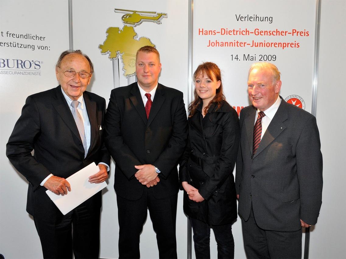 Hans-Dietrich-Genscher-Preis und Johanniter-Juniorenpreis: Auszeichnung der Preisträger 2009
