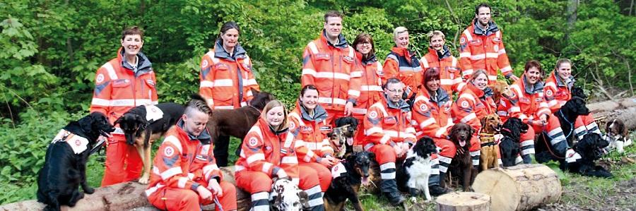 Das Team der Rettungshundestaffel Südniedersachsen