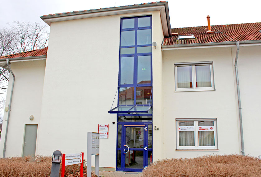 Eingangsbereich der ambulanten Pflege der Johanniter im Leintal.