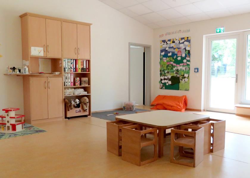 Einer der Gruppenräume der Johanniter-Betriebskita Ostendkinder in Hildesheim.