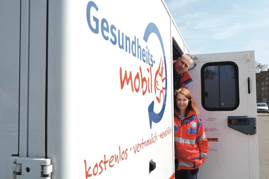 Das Gesundheitsmobil Lübeck wird von Thomas Müller und Sabine Gritzka betreut.