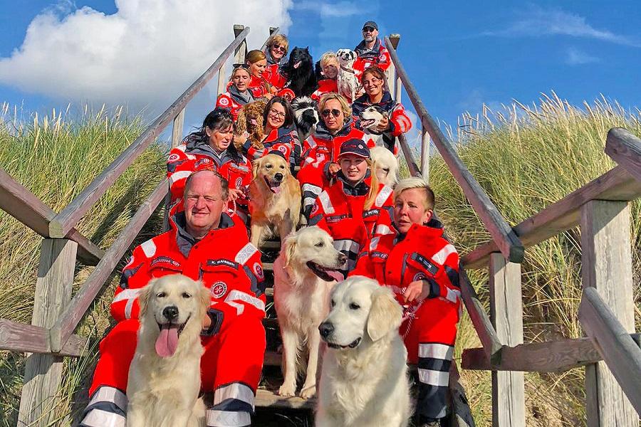 Das Team der Rettungshundestaffel Sylt