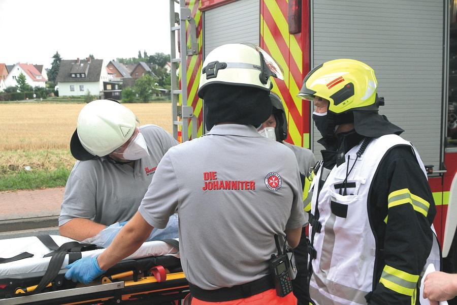 Katastrophenschutzhelfer trainieren für den Ernstfall.