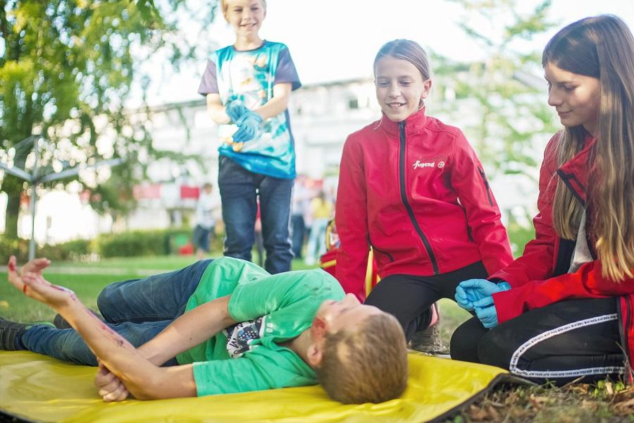 Im Fokus der Johanniter-Jugend in Dresden steht die Erste Hilfe.