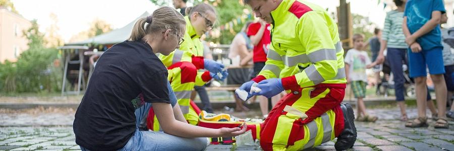 Der Schwerpunkt des Bevölkerungsschutz der Johanniter in Dresden liegt auf der medizinischen und psychischen Betreuung von Betroffenen.