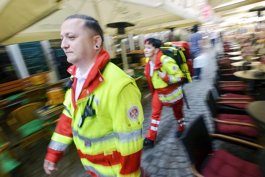 Unser Katastrophenschutz auf dem Weg zum Einsatz.