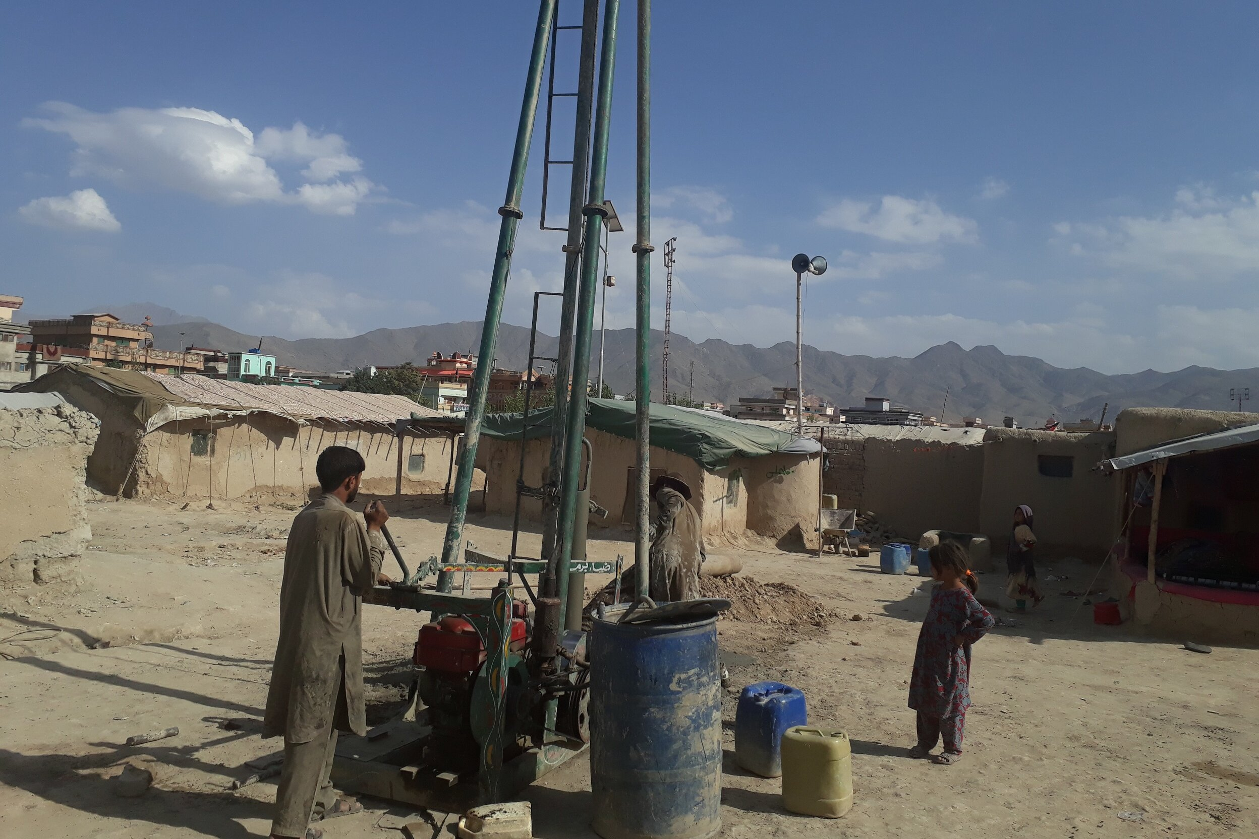 A well in one of Kabul's settelments