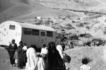Hilfe für kurdische Flüchtlinge im Jahr 1991.