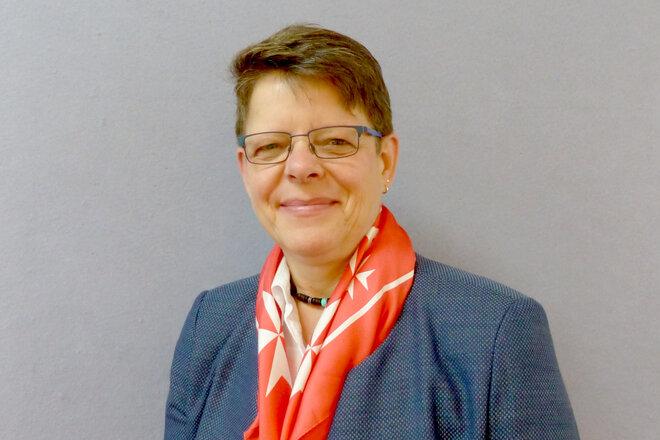 Portrait der Pflegedienstleitung der Sozialstation Schlüsselfeld, Ursula Benke