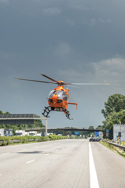 Rettungshubschrauber Christoph 4 flog 1317 Einsätze im Jahr 2019.