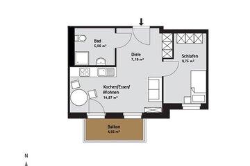 Grundriss Quartier-Johannisthal Wohnung 7
