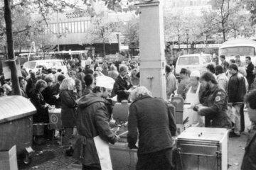 Eine Suppenküche der Johanniter im Jahr 1989.