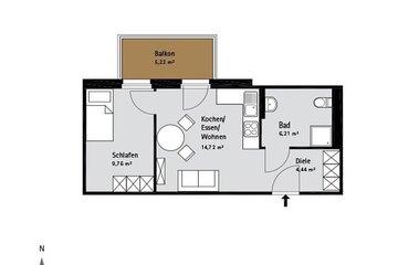 Grundriss Quartier-Johannisthal Wohnung 6