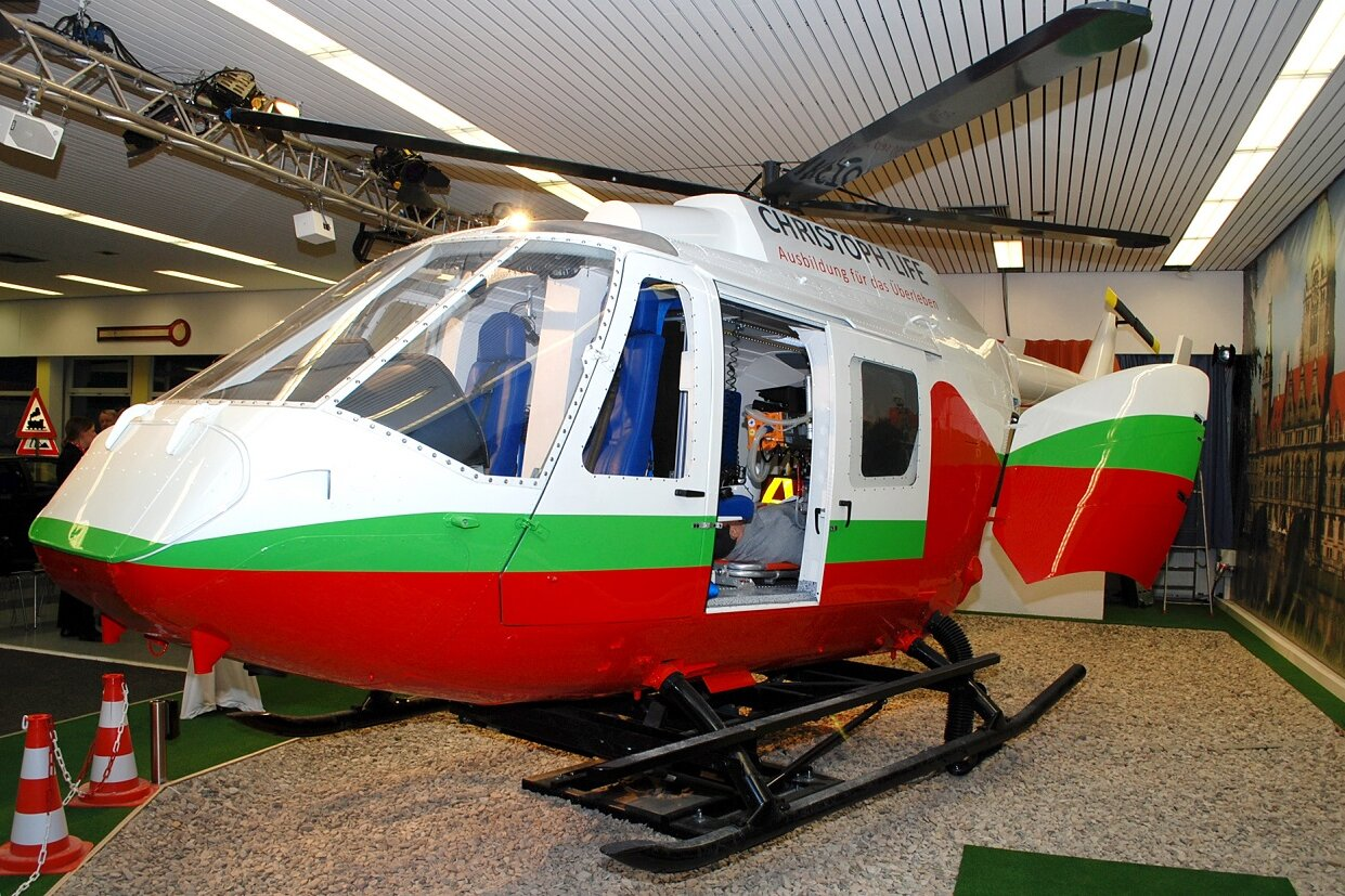 Der Hubschrauber-Simulator Christoph Life bietet Training unter realitätsnahen Bedingungen.