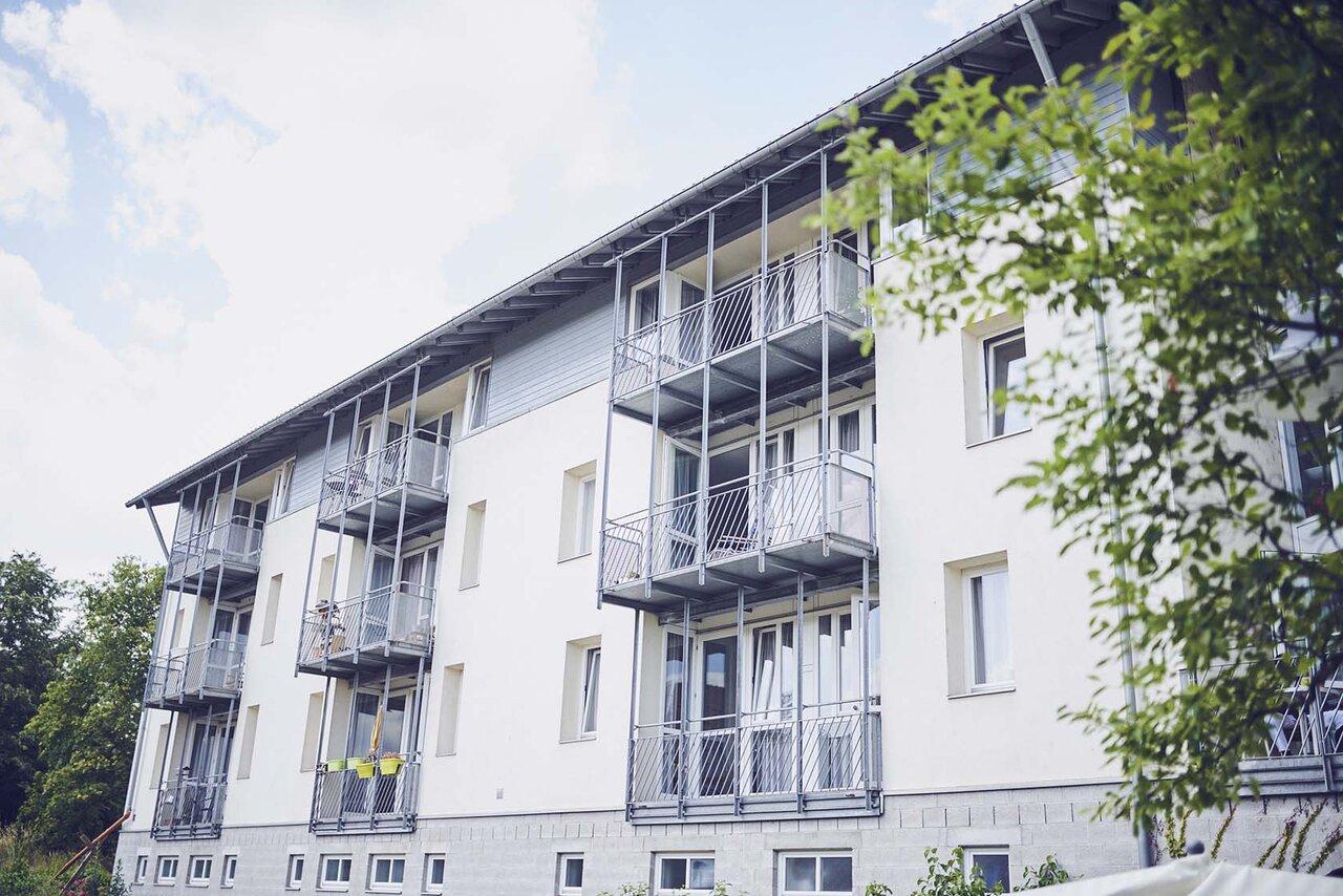 Hausansicht des Johanniter-Haus am Waldpark in Ladenburg