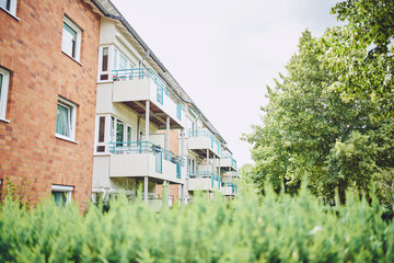 Ein Blick auf die vielen Balkone des Johanniter-Stift Meerbusch
