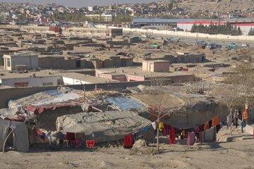 Das Sabzi Baghrami Camp: eine von mehr als 50 informellen Siedlungen in Kabul, in denen tausende Familien ohne eine angemessene Grundversorgung leben.
