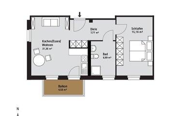 Grundriss Quartier-Johannisthal Wohnung 10