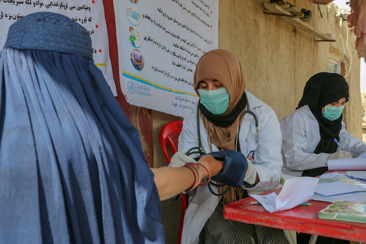 Health workers in Afghanistan