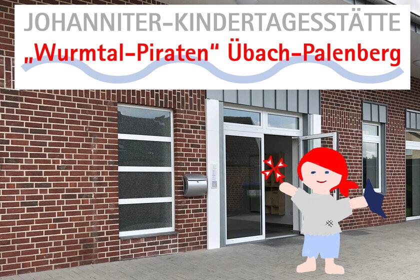 "Eingang zur Johanniter-Kita ""Wurmtal-Piraten"""