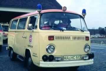 Ein Johanniter-Rettungswagen aus den 60er Jahren.