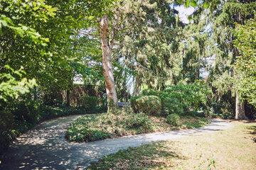Schön angelegter Gartenweg im Johanniter-Haus Sinzig
