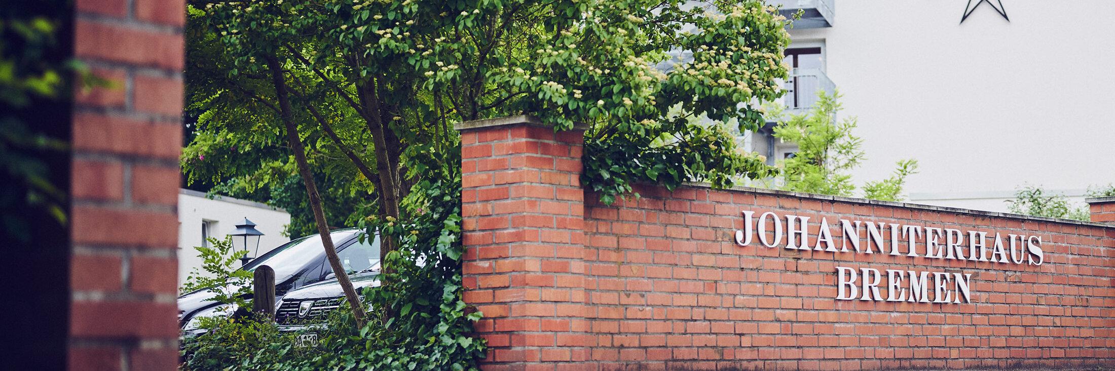 Auffahrt zum Parkplatz des Johanniterhaus Bremen.