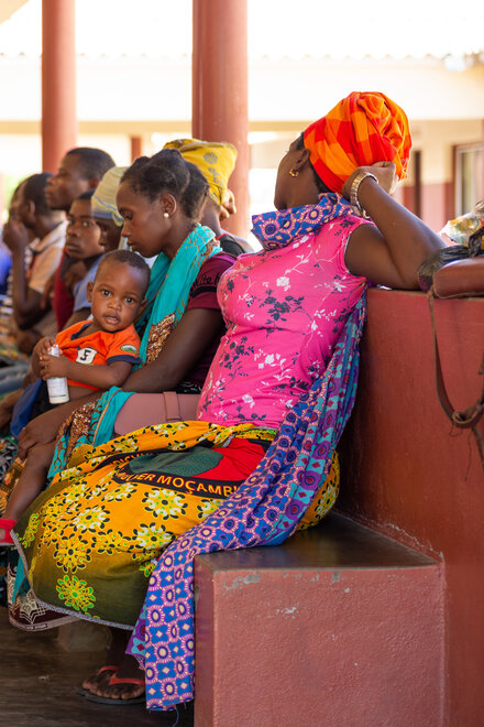 Patients wait for their treatment in the health center