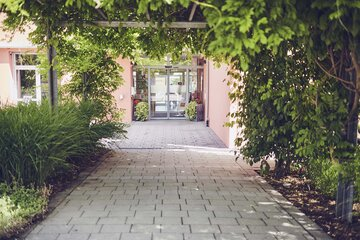 Der Eingangsbereich des Johanniter-Pflegewohnhauses in Mögglingen
