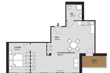 Grundriss Quartier-Johannisthal Wohnung 2