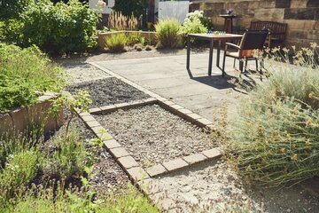 Garten des Johanniterhauses Nebra